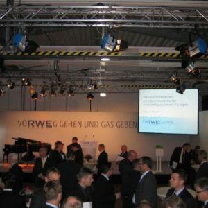 JED mediaservice: Vermietung Arri, Leinwand (RWE Lingen 21.10.2011)